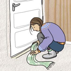 sjaal tocht deur