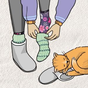 sloffen voeten warm